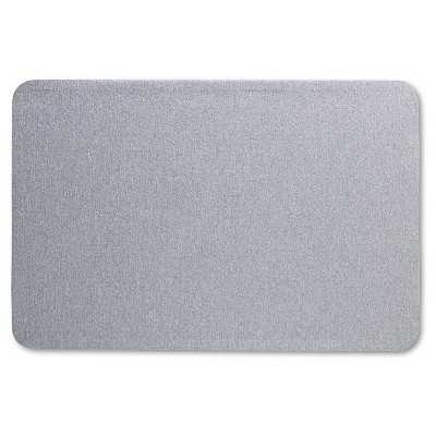 Quartet® Oval Office Fabric Bulletin Board, 36 x 24, Gray - Target
