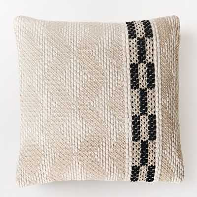 "Diamond Color Stripe Pillow Cover -20""sq.- Insert Sold Separately - West Elm"