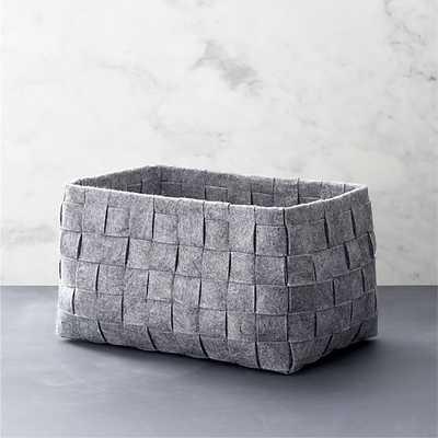 Small Woven Felt Bin - Crate and Barrel