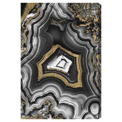 Adore Geo Graphic Art on Wrapped Canvas, Unframed - AllModern