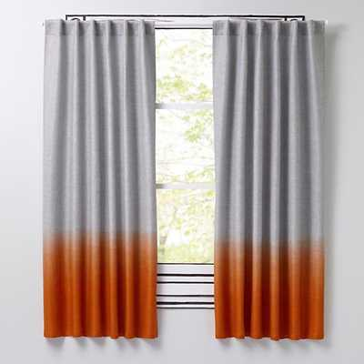 "96"" Half Dipped Curtain (Orange) - Land of Nod"