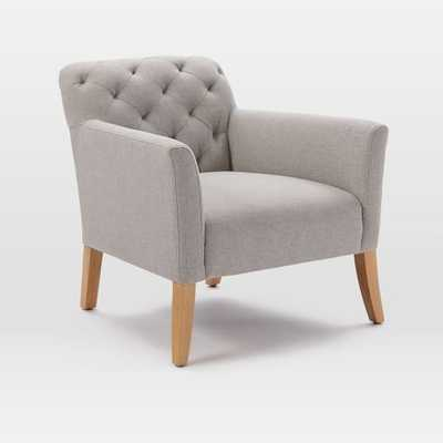 Elton Chair - Heathered Crosshatch, Feather Gray - West Elm