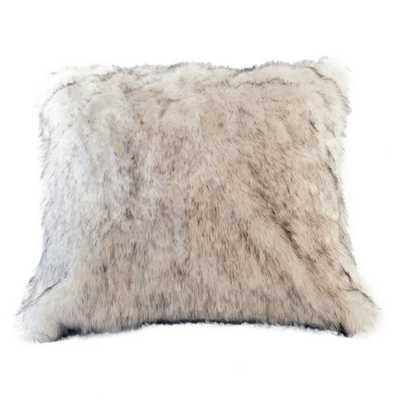 "Arctic Fox Faux Fur Pillow Cover-16"" x 16"" -Multi-Colored-Without Insert - Wayfair"