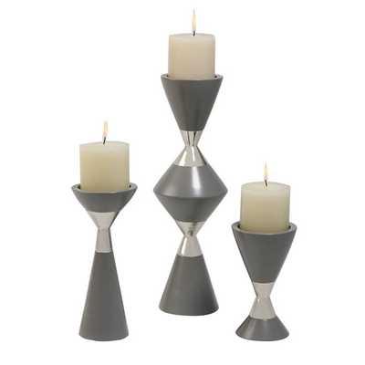 3 Piece Hourglass Candlestick Set - AllModern