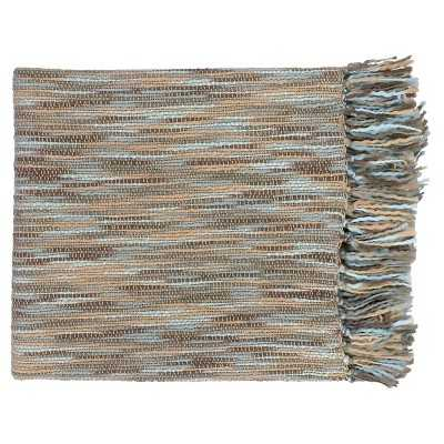 Teegan Throw - sky blue/grey/beige/slate - Target
