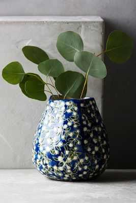 Windswell Vase - Navy - Anthropologie
