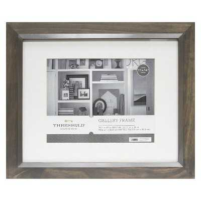 """Grey Frame with Silver Inner - Thresholdâ""""¢-11""""x14"""" - Target"""