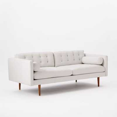 Monroe Mid-Century Leather Sofa - Chalk - West Elm