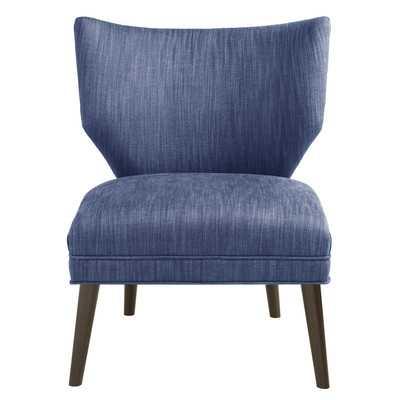 Adley Retro Wing Back Side Chair - Blue, Espresso - Wayfair