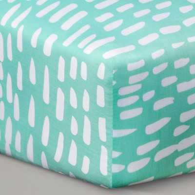 Oh Joy!® Woven Fitted Crib Sheet - Mint Dash - Target