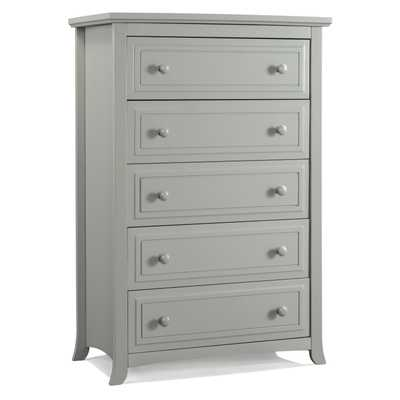 Auburn 5 Drawer Dresser-Pebble Gray - Wayfair
