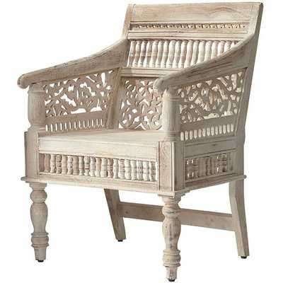 HAND-CARVED RAJASTHAN CHAIR - Home Decorators