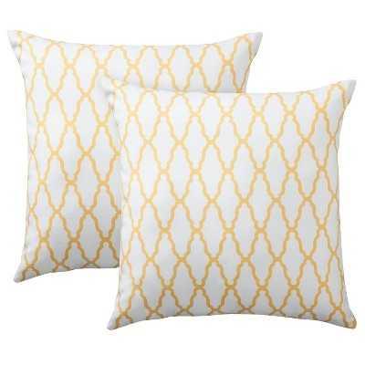 "Thresholdâ""¢ 2-Pack Trellis Toss Pillows-18''x 18""-Insert included - Target"
