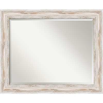 Alexandria Whitewash 33 x 27-inch Large Wall Mirror - Overstock