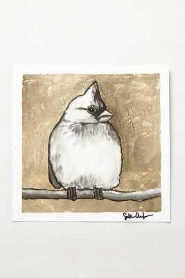"Gilded Bird Print - 8"" - Unframed - Yellow - Anthropologie"