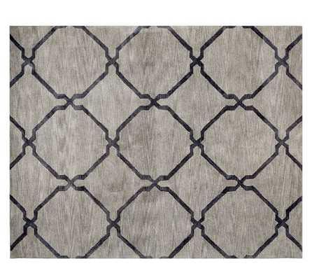 "Tonal Tile Tufted Rug- Ebony-8""x10"" - Urban Outfitters"
