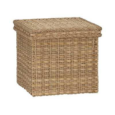 Palma Large Square Lidded Basket - Crate and Barrel