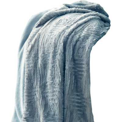 Ouasse Luxury Throw Blanket - Pearl Blue - Wayfair