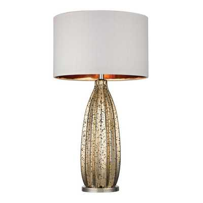 Dimond Pennistone Antique Gold Mercury Polished Nickel Table Lamp - Overstock