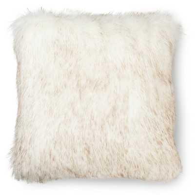 "Fur Decorative Pillow - White - Thresholdâ""¢-18""x18""-Insert - Target"