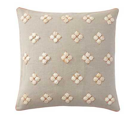 SHELL DIAMOND PILLOW COVERS -ORANGE- 20x20, Insert Sold Separately - Pottery Barn