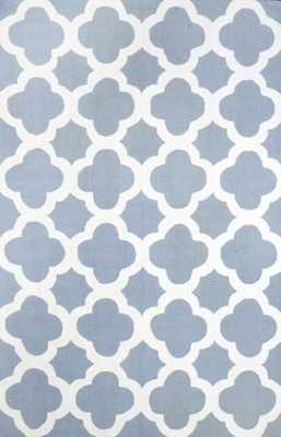 "Hand Hooked Nora Area rug - Blue; 8' 6"" x 11' 6"" - Loom 23"
