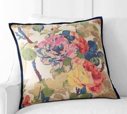 """CHARLOTTE FLORAL PILLOW COVER - 20"""" - no insert - Pottery Barn"""