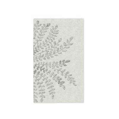 Frond Wool Rug - Platinum - 3' x 5' - West Elm