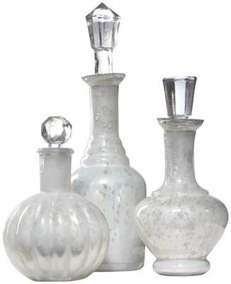 Curran Glass Bottles (Set of 3) - Home Decorators