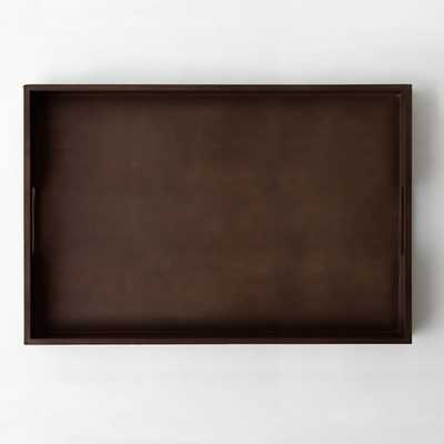 Large Rectangle Lacquer Trays - Espresso - West Elm