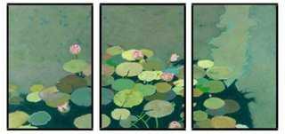 "Friedlander, Organic Lily Pads Triptych Set of 3-20'5""x30'5""each-Framed - One Kings Lane"