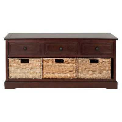 Storage Cabinet Cherry - Safavieh - Target