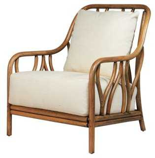 Ricky Rattan Lounge Chair, Nutmeg - One Kings Lane