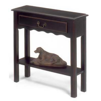 Console Table in Black - Wayfair