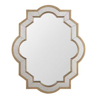 Paisley Oval Quatrefoil Frame Accent Wall Mirror - Overstock