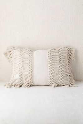 Venice Net Tassel Bolster Pillow - Neutral, 14x20 - Urban Outfitters