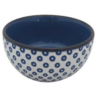 Stoneware Blue Dots Dip Bowl - Target
