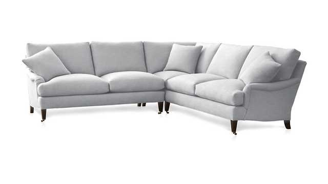Essex 2-Piece Sectional Sofa with Casters - Stingray - Crate and Barrel