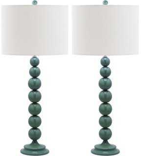 Knot Table Lamp Set, Marine Blue - One Kings Lane