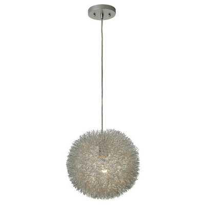 Luminary 1-light Silver Small Pendant - Overstock