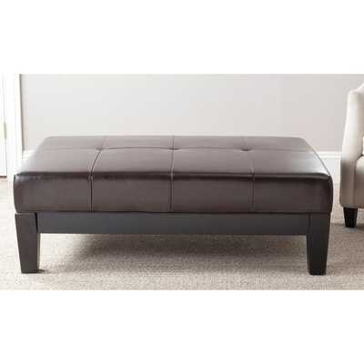 Safavieh Brown Solid Wood Cocktail Ottoman - Overstock