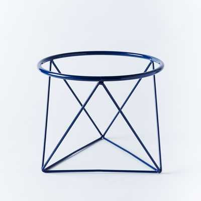 Eric Trine Octahedron Plant Holder - Dark Blue - West Elm