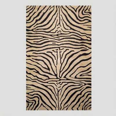 Zebra Wool Rug, Neutral - World Market/Cost Plus