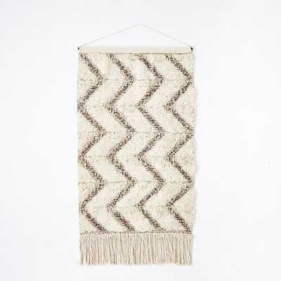 Sequin Shag Wall Tapestry - Zigzag - West Elm