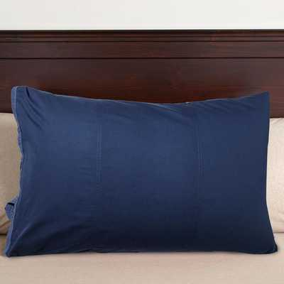 """Classic Metro Pillowcase - Navy - 20 x 30"""" - Inserts sold separately - Pottery Barn Teen"""