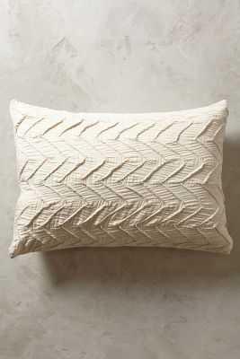 Textured Chevron King Shams - Ivory - Set of 2 - Anthropologie
