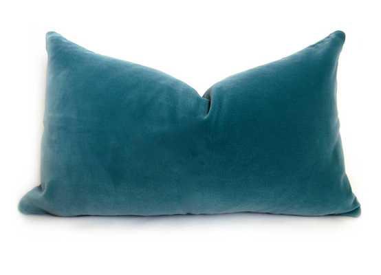 Belgium Velvet Pillow Cover - 12x18 - No Insert - Willa Skye