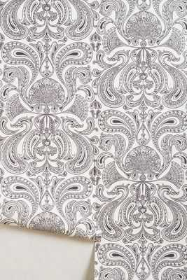 Suspended Swoon Wallpaper - Black and White - Anthropologie
