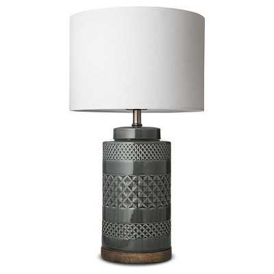 "Wood and Ceramic Table Lamp - Jade (Includes CFL Bulb) - Thresholdâ""¢ - Target"