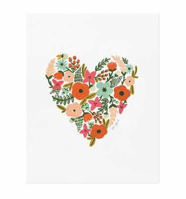 """Floral Heart - 18 × 24"""" - Framed (Gold) - No mat - riflepaperco.com"""